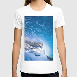 Nature Alaska USA Mendenhall Glacier Juneau Ice Bing Cave Winter caves T-shirt