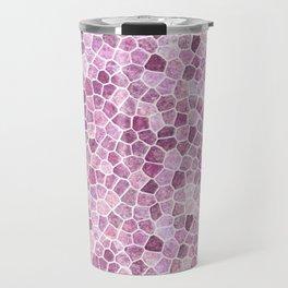 Pale Pink Cobbled Patchwork Travel Mug