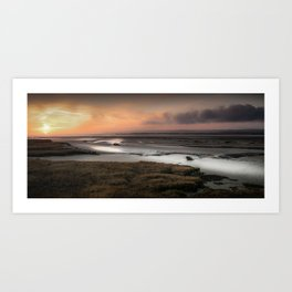 Penclawdd marsh sunset Art Print