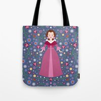 belle Tote Bags featuring Belle by Carly Watts