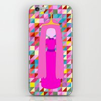 princess bubblegum iPhone & iPod Skins featuring PRINCESS BUBBLEGUM by Andrew Inc.