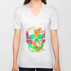 Dead Color Skull Unisex V-Neck