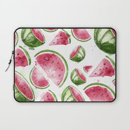 Juicy Watercolor Watermelons Laptop Sleeve