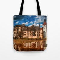 castle Tote Bags featuring Castle by DistinctyDesign