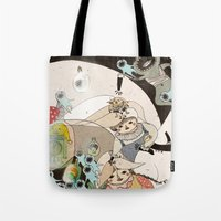 roald dahl Tote Bags featuring Dream Catcher by Yoyo the Ricecorpse