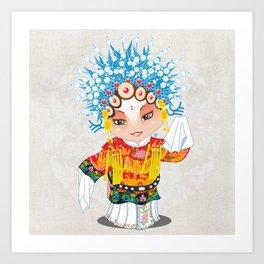 Beijing Opera Character SunShangXiang Art Print
