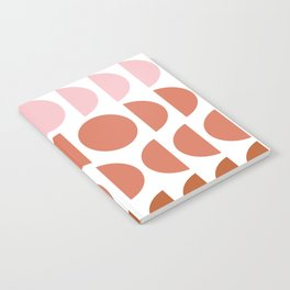 Terracotta and Blush Shapes Notebook