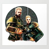 pacific rim Art Prints featuring pacific rim by chazstity