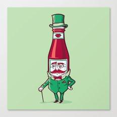 Sir Fancy Ketchup Canvas Print
