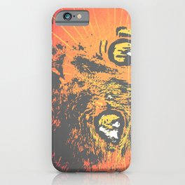 Cat Face Print Illustration, Cat Eyes Art Work, wild nature iPhone Case