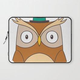 Cartoon Abstract Owl Laptop Sleeve