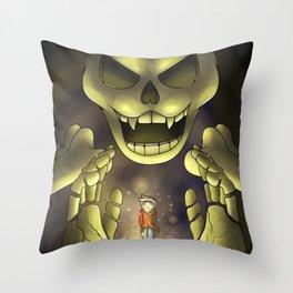 Skeletron- Terrarias Throw Pillow