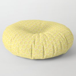 Yellow Honeycomb Floor Pillow