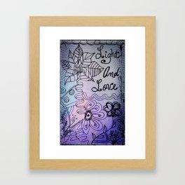 Light And Love Framed Art Print