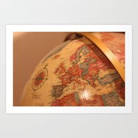 globe Art Prints featuring Globe by RMK Photography