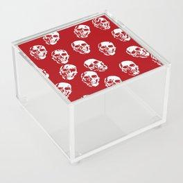 Hot Skulls, red white Acrylic Box