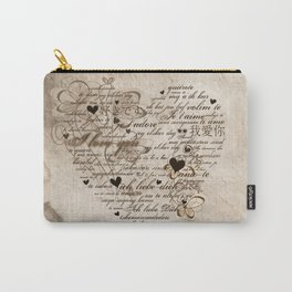 Ich liebe Dich -  I love you Carry-All Pouch