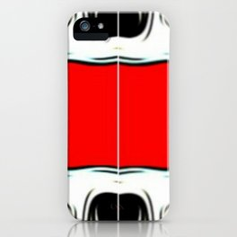 Red Black & White iPhone Case