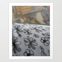 flower sheets & cityscapes Art Print