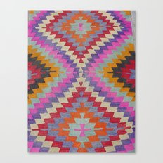 Ikat Rug 6 Multi Canvas Print