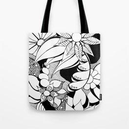 Floral Freak Doodle Art Tote Bag