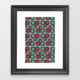 Bicycle Gear Heart close up Framed Art Print