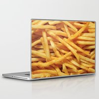 french fries Laptop & iPad Skins featuring French Fries Diet by Coconuts & Shrimps