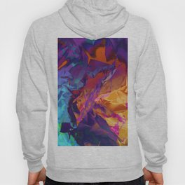 Dragon's Back. Dynamic, Blue, Purple and Orange Abstract. Hoody