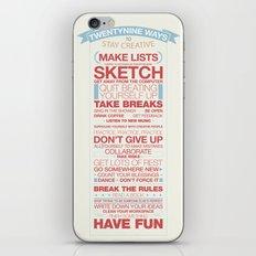 29 Ways to Stay Creative iPhone & iPod Skin