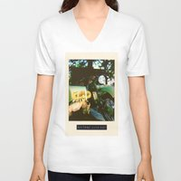 motorcycle V-neck T-shirts featuring Motorcycle by Mauricio De Fex
