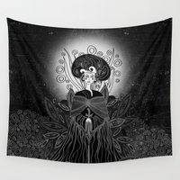 mother Wall Tapestries featuring Mother Earth  by Viviana Gonzalez