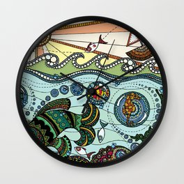 'What Lies Beneath' Wall Clock