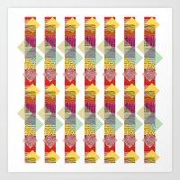 Skyscraper Geometric Art Print