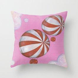 Peppermint Piggies Throw Pillow