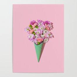 Flower Flurry I Poster