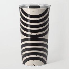 Mid Century Modern Art Print, Abstract Rainbow Arch wall art, Geometric Arch Print, black and white, Travel Mug
