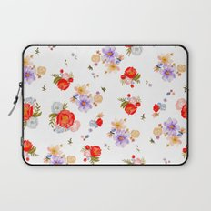 RED FLORAL Laptop Sleeve