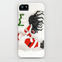 Boris The Christmas Tarantula 4 iPhone Case