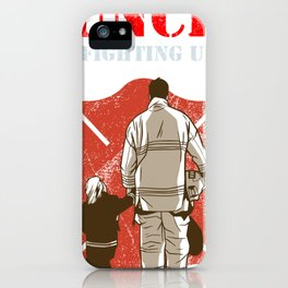 Funcle Firefighting Uncle Funny Firefighter Gift for Uncle iPhone Case