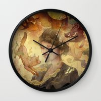 silent Wall Clocks featuring Silent Visions by Corinne Reid