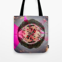washington dc Tote Bags featuring DC by Petra Heitler
