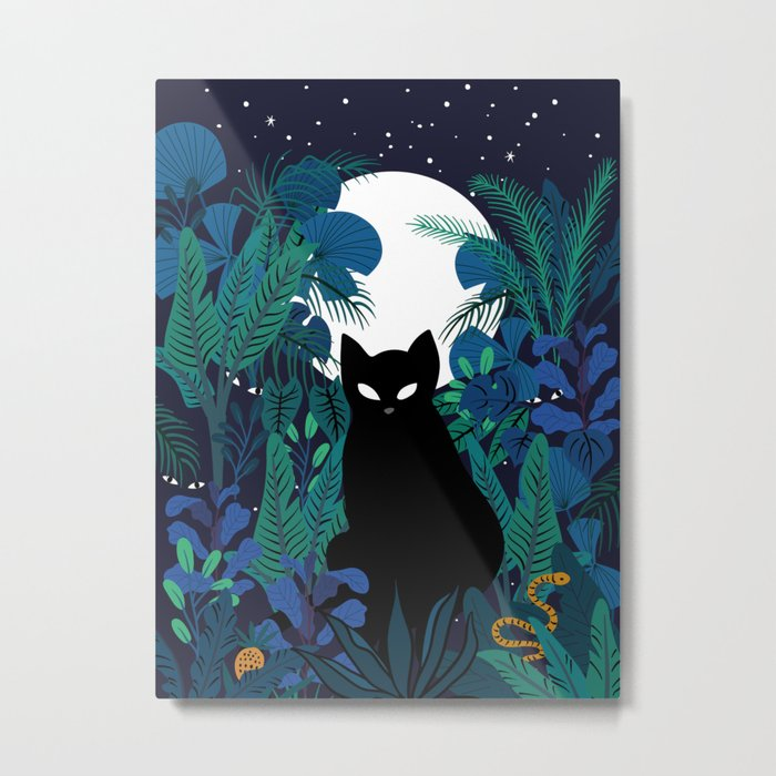 mystical cat Metal Print