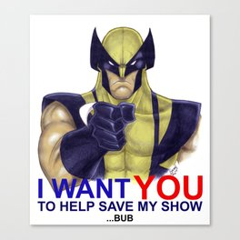 1 Million to save wolvie and the x-men  Canvas Print