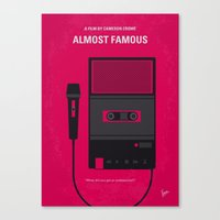 No781 My Almost Famous minimal movie poster Canvas Print