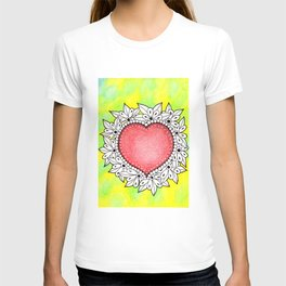 Watercolor Doodle Art | Heart T-shirt