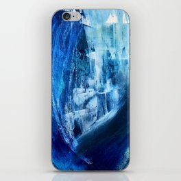 Cerulean [5]: a vibrant blue abstract with texture and layers iPhone Skin