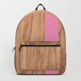 Wood Grain Stripes Pink #787 Backpack