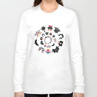 psychology Long Sleeve T-shirts featuring Rorschach test subjects' perceptions of inkblots psychology   thinking Exner score  by Luxorama