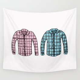 Flannel shirts Wall Tapestry