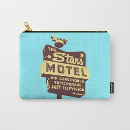 Seeing Stars ... Motel ... (Blue Background) Carry-All Pouch